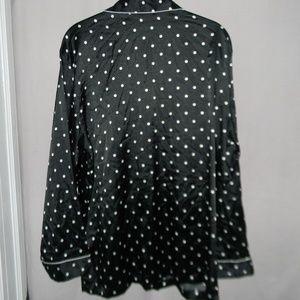 Victoria s Secret Intimates   Sleepwear - White Polka Dots Satin Polyester  Pajama Top eb09081c2